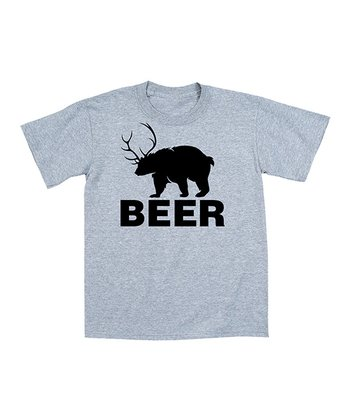 Athletic Heather 'Beer' Bear Tee - Men