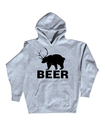 Athletic Heather 'Beer' Bear Hoodie - Men
