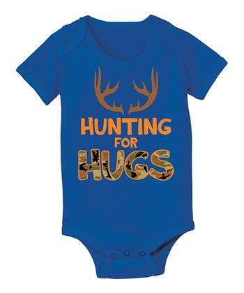 Royal Blue 'Hunting for Hugs' Bodysuit - Infant