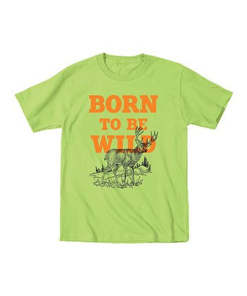 Key Lime 'Born to Be Wild' Tee - Toddler & Kids