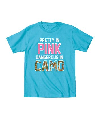 Aqua 'Pretty in Pink Dangerous in Camo' Tee - Toddler & Girls