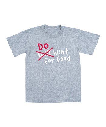 Athletic Heather 'Do Hunt For Food' Tee - Men