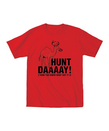 Red 'Hunt Daaaay!' Tee - Men