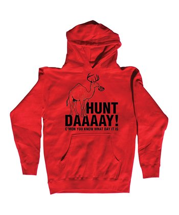 Red 'Hunt Daaaay!' Hoodie - Men