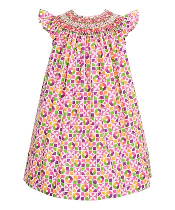 Pink & Purple Floral Angel-Sleeve Dress - Infant, Toddler & Girls