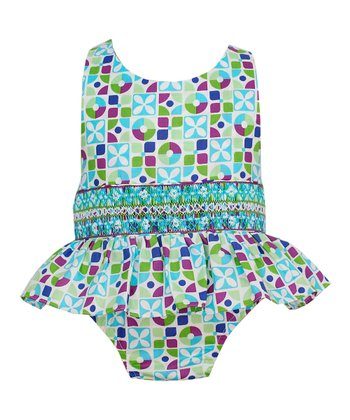 Green & Purple One-Piece - Infant & Toddler