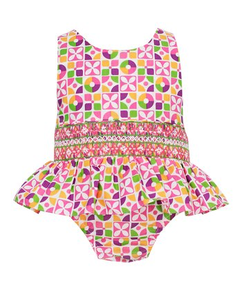 Pink Floral Skirted One-Piece - Infant & Toddler