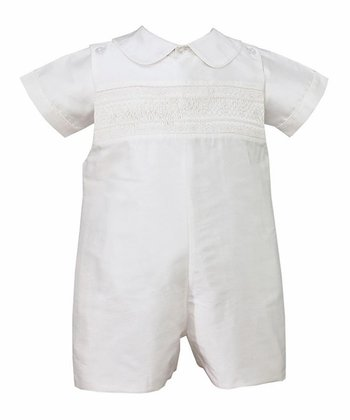 White Silk John Johns - Infant