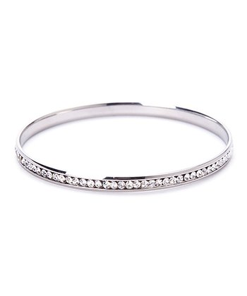 Cubic Zirconia & Stainless Steel Bangle