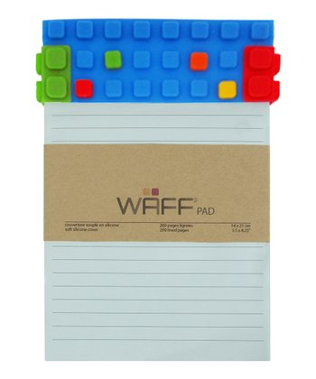 Blue WAFF Notepad