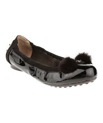 Black Fluffy Ears Ballet Flat - Women
