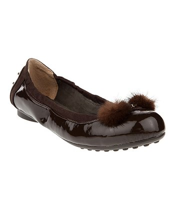 Brown Fluffy Ears Ballet Flat - Women