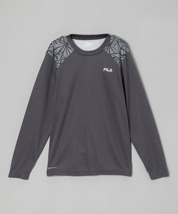 Iron Long-Sleeve Performance Tee - Boys