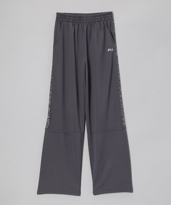 Gray Track Pants - Boys