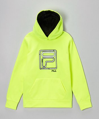 Flashy Yellow 'F' Pullover Hoodie - Boys
