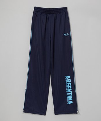 Navy & Blue 'Argentina' Track Pants - Boys