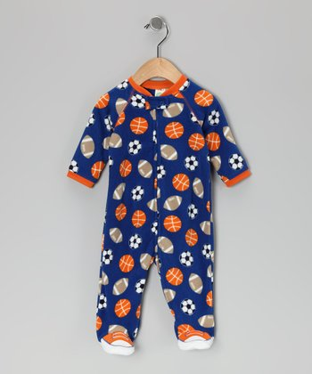 Royal Blue Sport Footie - Infant