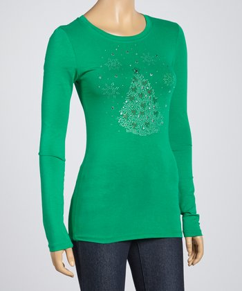 Kelly Green Tree Tee
