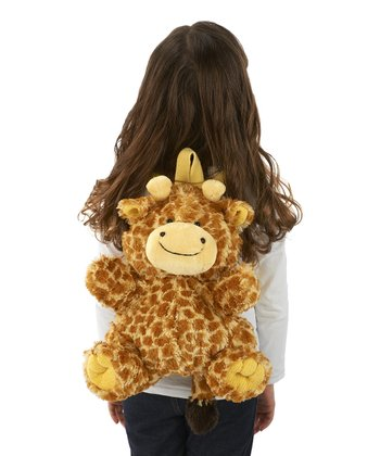 Tan & Ivory Giraffe Backpack