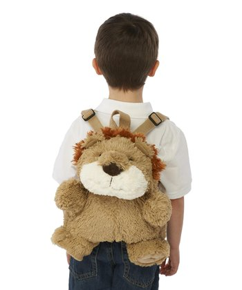 Tan & Ivory Lion Backpack