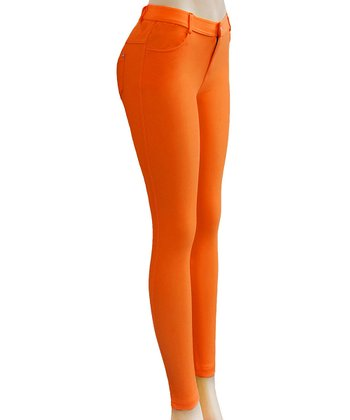Orange Jeggings - Women