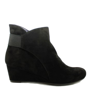 Black Suede Lana Wedge Ankle Boot