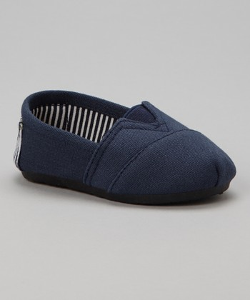 Navy Stripe Kaymann Slip-On Shoe