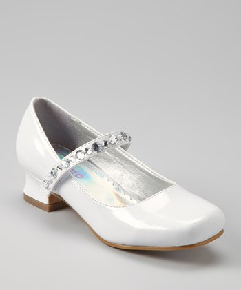 White Patent Sparkle Mary Jane