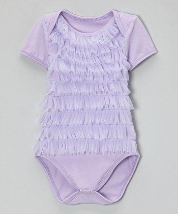 Lavender Ruffle Bodysuit - Infant