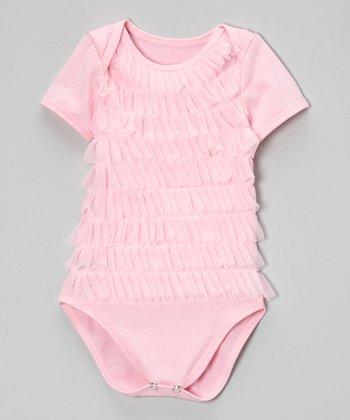 Light Pink Ruffle Bodysuit - Infant
