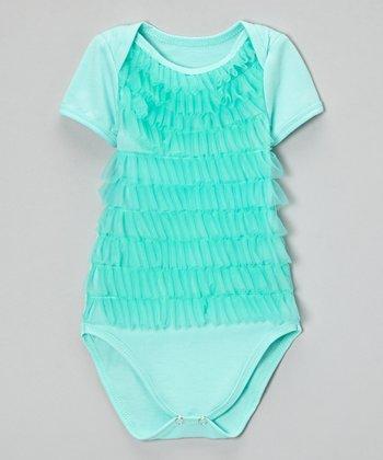 Mint Green Ruffle Bodysuit - Infant