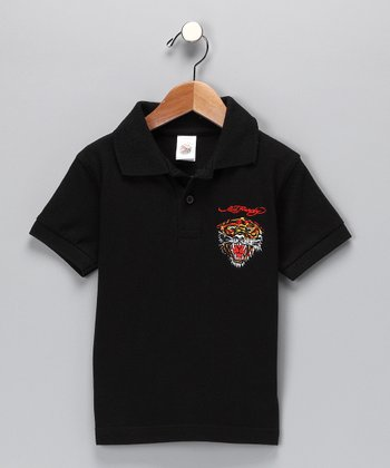 Black Tiger Polo - Toddler & Boys