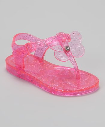 Hot Pink Butterfly Jelly Sandal