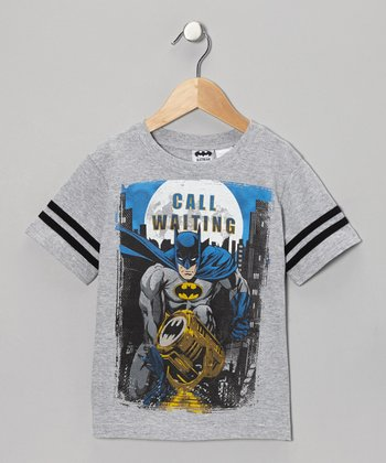 Gray 'Call Waiting' Batman Tee - Kids
