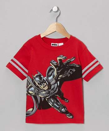 Red Batman Action Tee - Kids