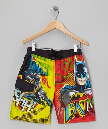 Yellow Batman Boardshorts - Boys