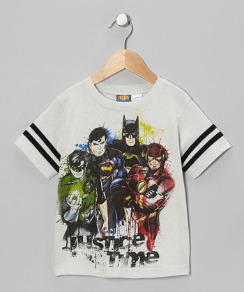Gray 'Justice Time' DC Tee - Kids