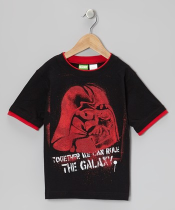 Black 'The Galaxy' Darth Vader Tee - Boys