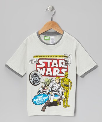 Gray Vintage Luke Skywalker 'Star Wars' Tee - Kids