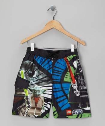 Green LEGO Darth Vader Boardshorts - Boys