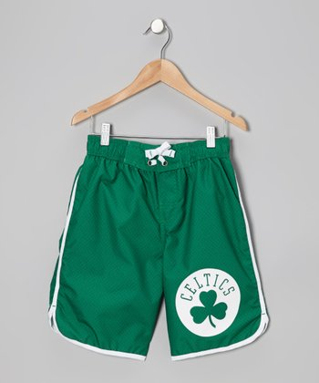 Green Boston Celtics Boardshorts