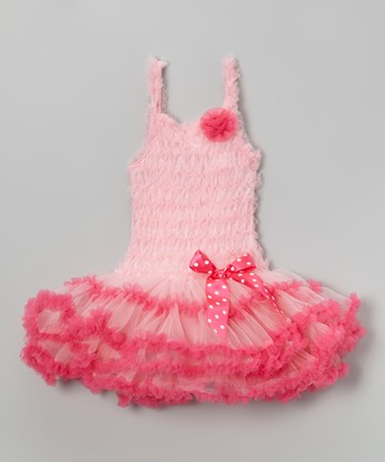 Hot Pink Bow Ruffle Dress - Infant, Toddler & Girls