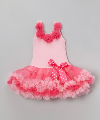 Pink Bow Flower Dress - Infant, Toddler & Girls