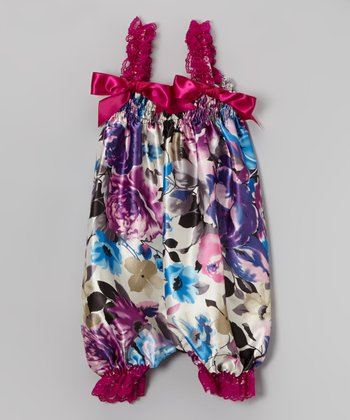 Purple Flower Bubble Romper - Infant, Toddler & Girls