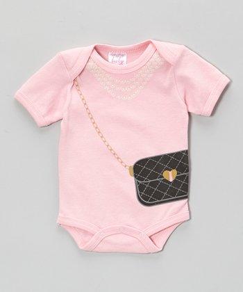Mon Cheri Baby Pink Purse Bodysuit - Infant