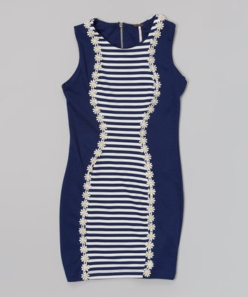 Night Sky Stripe Tank Dress