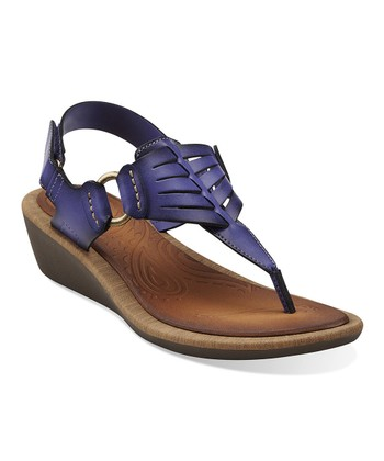 Purple Millie Flare Wedge Sandal