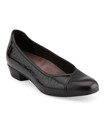 Black Caswell Eternity Leather Flat
