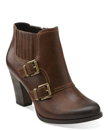 Brown Alpine Icy Buckle Ankle Boot
