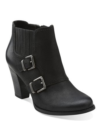 Black Alpine Icy Buckle Ankle Boot